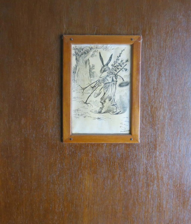 the kitchen door, with Palmer Cox drawing