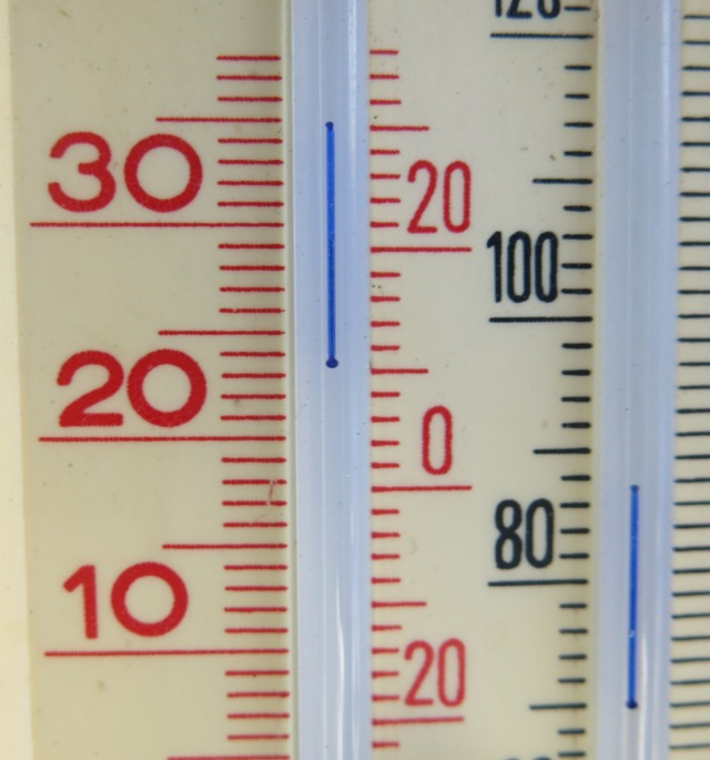 celsius on the left